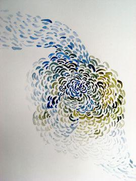 "Pamela Markoya Watercolor on Paper 12"" x 12"""
