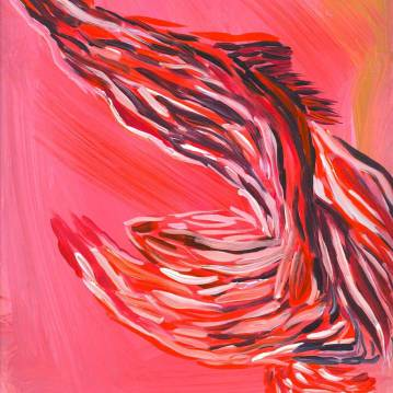 """Pamela Markoya Color Acrylic on Paper 12"""" x 9"""""""
