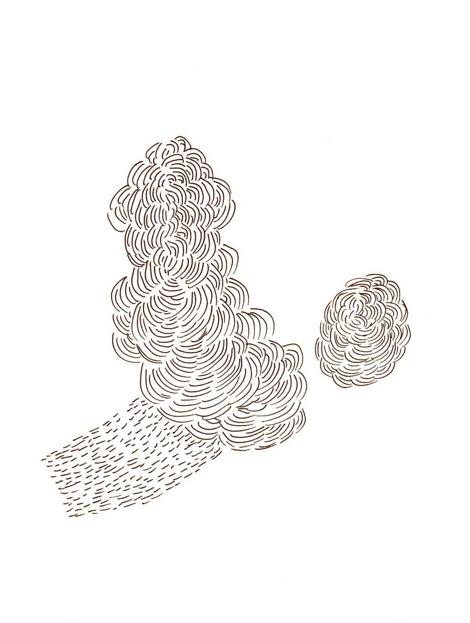 Pamela Markoya Black and White Ink on Paper 12″ x 9″